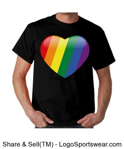 Rainbow heart Design Zoom